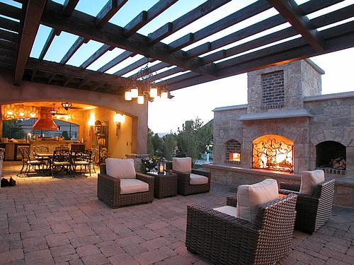 ... Garden Design With Upland Development With Landscaping Ponds From  Itest.com  Outdoor Fireplace And Pizza Oven